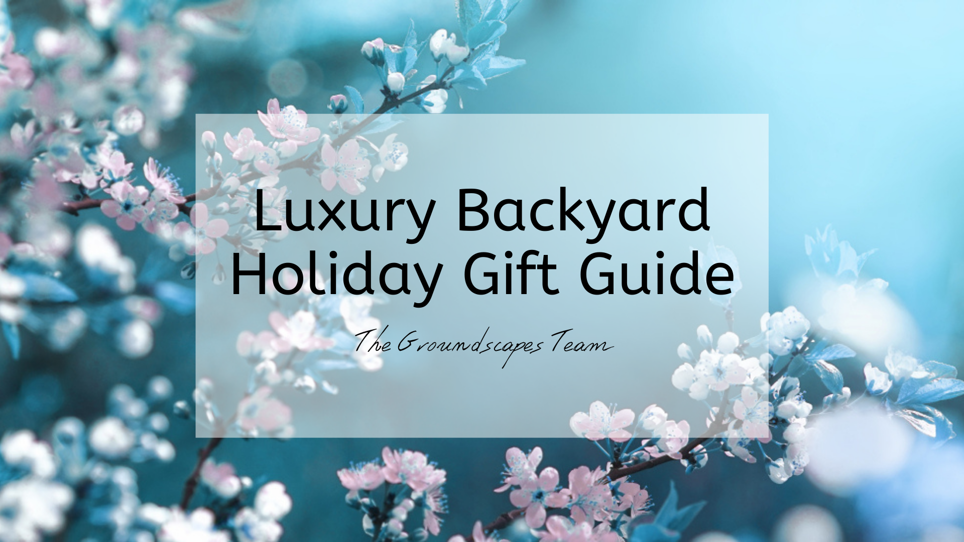 Luxury Backyard Holiday Gift Guide