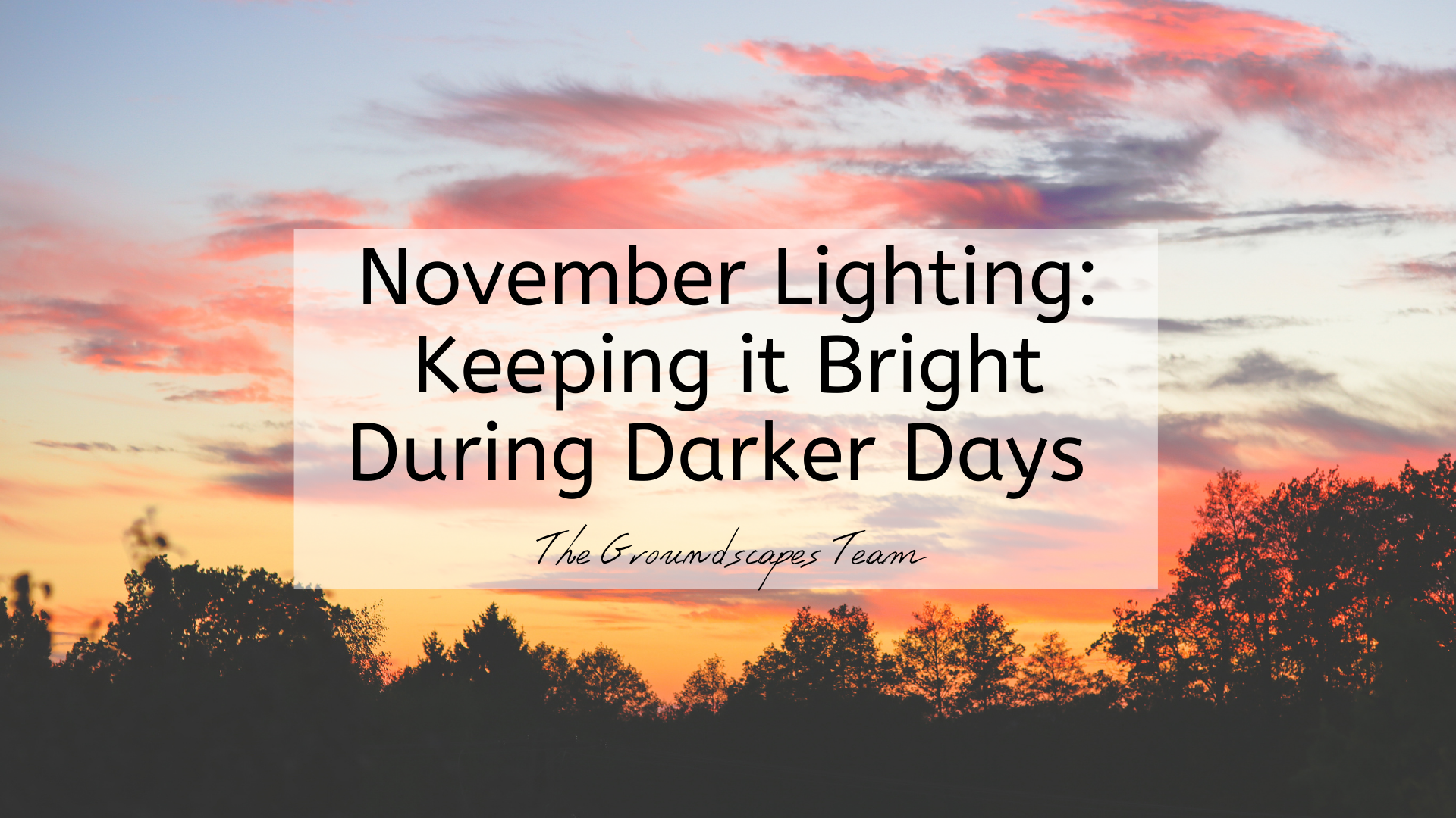 November Lighting: Keeping it Bright During Darker Days